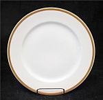 Gda Limoges France White Gold Trim Bread Plate's