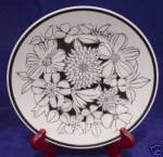 Mikasa Focus-shape Black Bouquet Salad Plate's 2037-bk