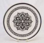 Mount Clemens China Usa Black Design Dinner Plate