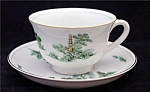 Narumi China Mikasa Green Willow Cup & Saucer Set's