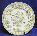 Premiere Green Asiatic Pheasants Side Bread Plate's