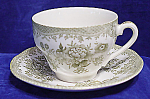 Premiere Green Asiatic Pheasants Cup And Saucer Set's
