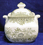Premiere Green Asiatic Pheasants Sugar Bowl And Lid