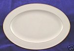 Style House Bridal Wreath Gold Oval Serving Platter 12