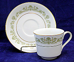 Style House Fine China Contessa Green Cup & Saucer Sets