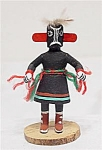 Zuni Kachina Girl Indian Doll Black Signed E Long