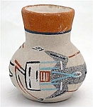 Indian Art Pottery Vase Pot With Kachina Painting