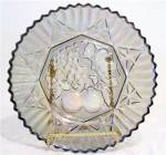 Amethyst Iridescent Carnival Glass Fruit Plate Federal