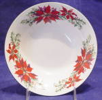 Totally Today Poinsettia & Holly Salad Soup Bowl (S)