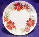 Totally Today Poinsettia & Holly Dinner Plate (S)