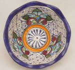 Mexican Talavera Pottery Hand Painted Bowl Signed Alba