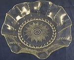 Federal Glass Columbia Ruffled Bowl