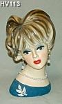 "8 1/2"" Napcoware Young Lady Head Vase"