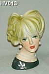"7 1/2"" Napcoware Young Lady Head Vase"
