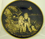 Lindner Mothers Day Plate 1975 We Wish You Happiness