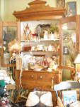 1800's Walnut Bookcase Or China Cabinet On Chest