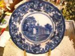 Flow Blue Mt Vernon-george Washington Home Plates