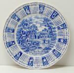 Alfred Meakin 1973 Blue & White Calendar Plate-zodiac