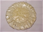 Morgantown Crinkle 6 1/2 Inch Plate - Topaz