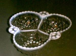 Moonstone,opal Anchor Hocking,cloverleaf,bowl