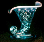 Fenton Glass,blue Opalescent,hobnail