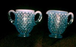Fenton Glass, Blue Opalescent, Hobnail