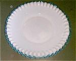 """Fenton Aqua Crest,12"""" Plate"""