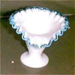 Fenton Glass, Aqua Crest,ftd Vase