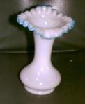 Fenton Glass, Aqua Crest,tulip Vase