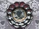 Rare Amethyst Heavy Grape Carnival Glas Plate
