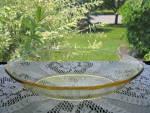 Fostoria Topaz Yellow Fairfax Oval Baker
