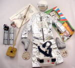 Vintage 1966 Gi Joe Action Outfit And Space Capsule