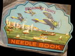 1920s Broadway Lights Needle Book With Wrapper