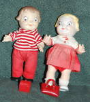 Pair Of Campbell Soup Kids Dolls Complete With Lunch Box And Purse