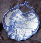 Blue White Porcelain Bonbon Plate Empire Works E P Co Stoke-on-trent