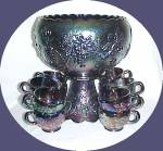 Westmoreland Purple Carnival 3-fruits 14 Pc Punch Bowl
