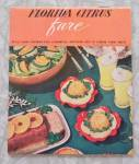 Florida Citrus Fare 1950's Recipe Booklet