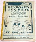 Keyboard Secrets 1927 Children's Lesson Book