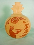 Tan And Red Vigil Carved Pot