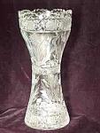 Corset Style Cut Glass Vase