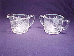 Cut Glass Creamer And Sugar