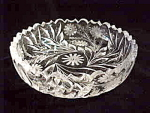 Elegant Cut Glass Low Bowl