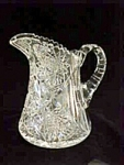 Brilliant Cut Glass Squat Pitcher