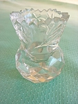 Cut Glass Toothpick Holder