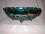 Carnival Glass Footed Dish