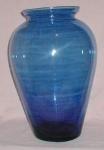 Cobalt Blue Handblown Vase