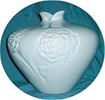 Haeger Flower Embossed Vase