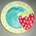 222 Fifth (Pts Intrn'l) Nectar Salad Plate - Strawberry