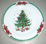 China Christmas In The Park Salad Plate