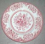 English Ironstone Kew Pink Bread & Butter Plate